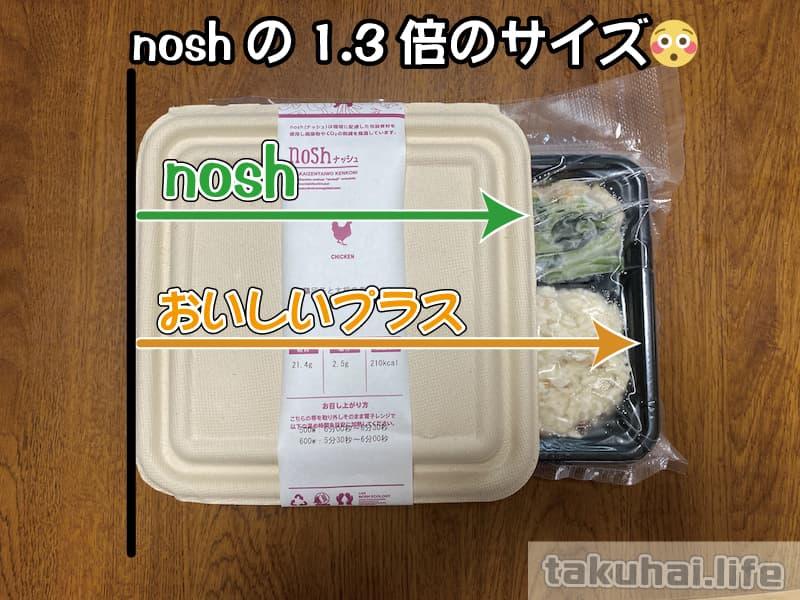 noshとおいしいプラスの量を比較
